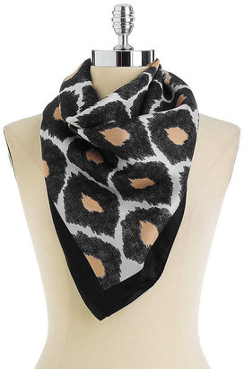 Vince Camuto Silk Ikat Print Scarf