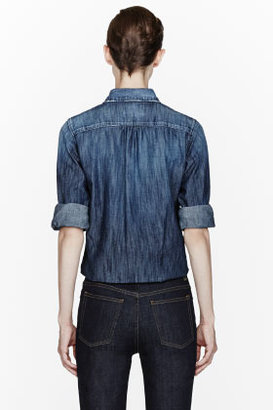DSquared DSQUARED2 Blue speckled Mister Denim Shirt