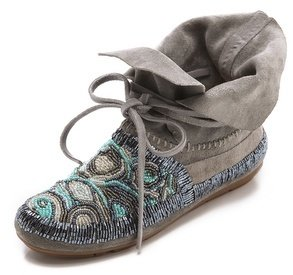 House Of Harlow Mallory Moccasin Booties