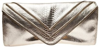 JJ Winters snakeskin pattern clutch