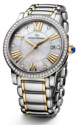 David Yurman The Classic® Timepiece, Steel & 18k Gold, 38mm $7,000 thestylecure.com