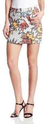 Love Moschino Women's Comic Denim Skirt
