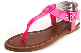 Charlotte Russe Multi-Strap Ankle Wrap Sandal