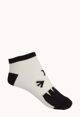 Forever 21 Winking Face Ankle Socks
