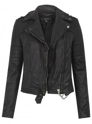 Muu Baa Muubaa Muubaa Minsk Quilted Leather Biker in Black