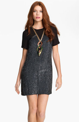 French Connection 'Shoot to Thrill' Sequin Shirt Dress