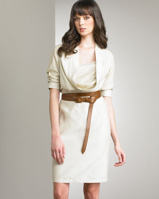 Ali Ro Belted Cowl Neck Dress