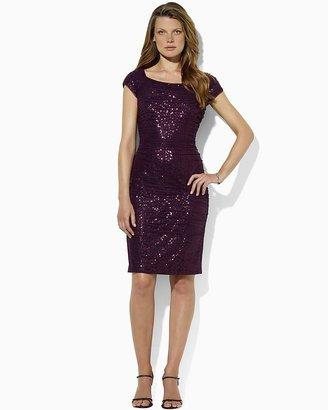 Lauren Ralph Lauren Open Neck Sequin Dress