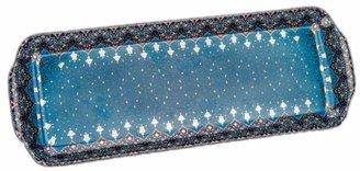 Philippe Deshoulieres Dhara Peacock Rectangular Cake Platter