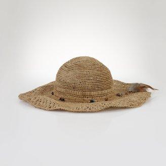 Ralph Lauren Crocheted Raffia Cowboy Hat