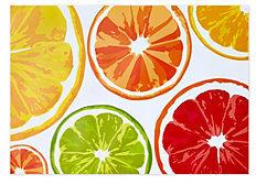 C. Wonder Citrus Fruit Paper Placemats