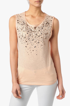7 For All Mankind Crystal Tee In Light Dusty Pink