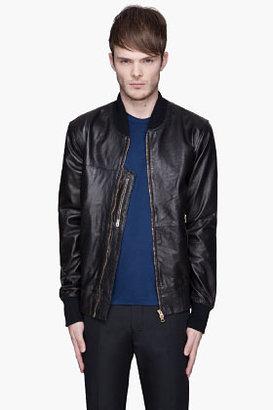 Paul Smith Black textured lambskin jacket