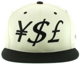 Yves Saint Laurent Large Paper The Yen Dollar Pound (YSL) Snapback