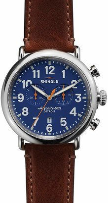 Shinola The Runwell Chronograph Brown Strap Watch, 47mm $750 thestylecure.com
