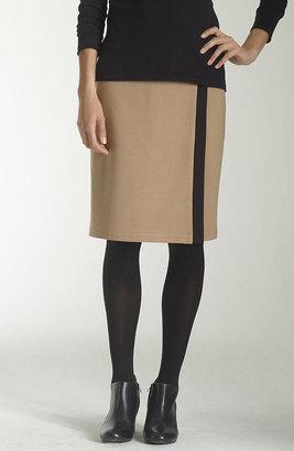 J. Jill Ponte knit wrap-style skirt