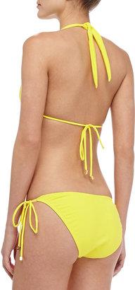 Shoshanna Textured Halter Bikini Top