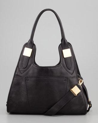 Rachel Zoe Lucas Small Leather Hobo Bag, Black