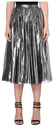 Alice + Olivia Alice & Olivia Lizzie pleated metallic skirt