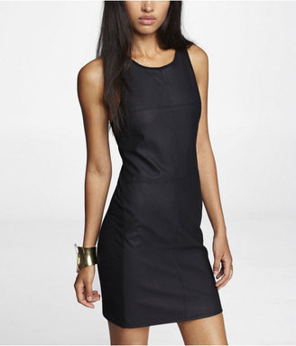 Express Seamed (Minus The) Leather Front Sheath Dress