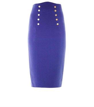 L'Wren Scott Gold button embellished pencil skirt