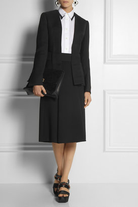 Marni Belted silk and wool-blend jacket