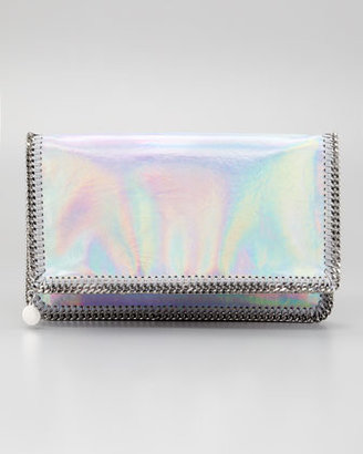 Stella McCartney Falabella Iridescent Foldover Clutch
