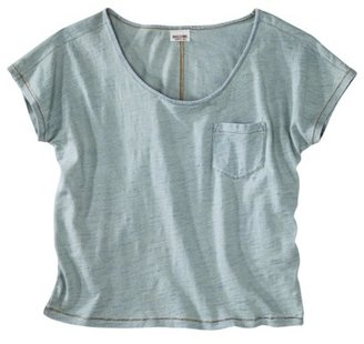 Mossimo Juniors Boxy Denim Pocket Tee - Assorted Colors