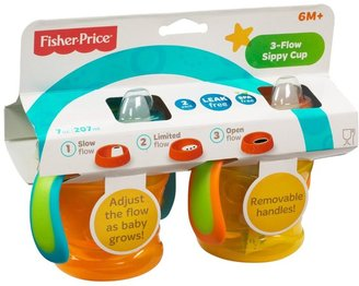 Fisher-Price 3-in-1 Spout Sippy Cup - Blue/Orange - 10 oz