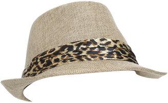 Arden B Leopard Band Fedora