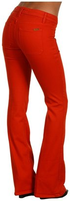 Joe's Jeans Patch Pocket Skinny Flare in Red Hot (Red Hot) - Apparel