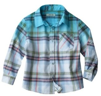 Cherokee® Infant Toddler Boys' Button Down - Turquoise
