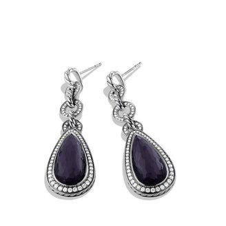 David Yurman Anjou Drop Earrings with Black Orchid and Diamonds