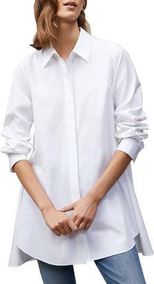 Lafayette 148 New York Carolyn Oversized Cotton Poplin Shirt