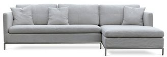 sohoConcept Istanbul Sectional Upholstery: Grey, Upholstery Material: Cotton, Orientation: Left Hand Facing