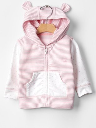 Gap Favorite dots & stripes bear hoodie