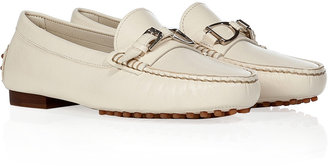 Ralph Lauren White Leather Loafers