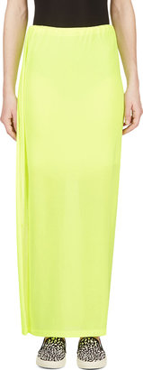 Yohji Yamamoto Yellow Neon Maxi Skirt $1,275 thestylecure.com