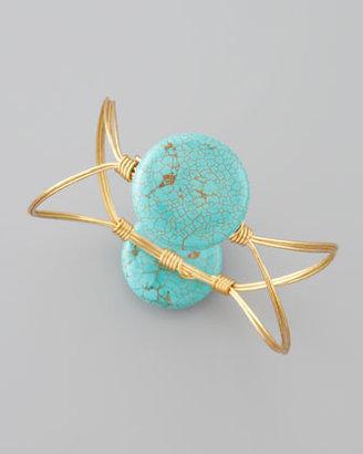 Susan Hanover Elliptical Bangle, Turquoise