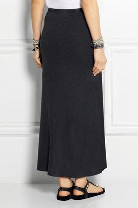 James Perse Inside Out Ellipse linen-blend jersey midi skirt