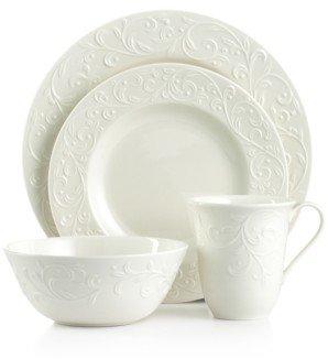 Lenox Dinnerware, Opal Innocence Carved 4 Piece Place Setting