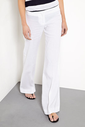 Nicole Farhi Farhi by Essence Stretch Linen Wide Leg Trousers