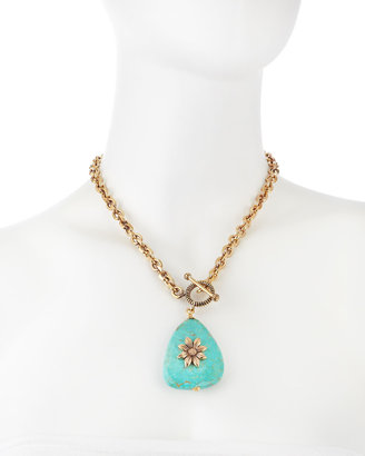 Stephen Dweck Turquoise Pendant Necklace