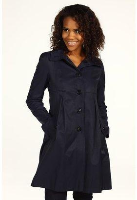 DKNY Hooded Babydoll Coat (Midnight) - Apparel