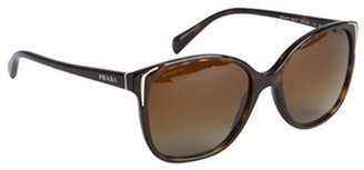 Prada havana brown acrylic cat eye sunglasses