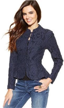 INC International Concepts Lace Peplum Jacket