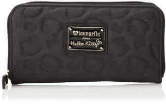 Hello Kitty Black Outline Emboss Zip Around Wallet