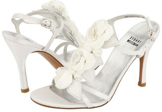 Stuart Weitzman & Evening Collection - Jardin (White Satin) - Footwear