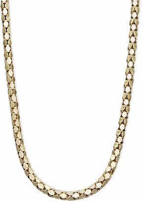 "Macy's 14k Gold Necklace, 16"" Diamond Cut Popcorn Chain (1-5/8mm)"