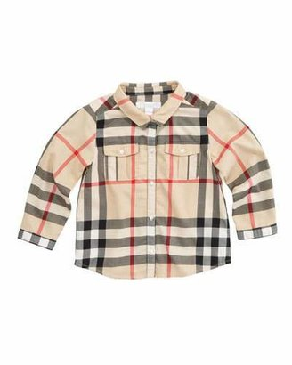 Burberry Long-Sleeve Check Shirt, New Classic $115 thestylecure.com